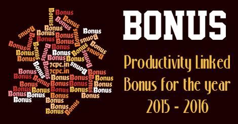 Productivity Linked Bonus
