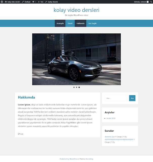 wordpress flexslider kullanımı