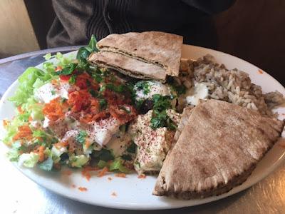 vegetarian Mediterranean plate