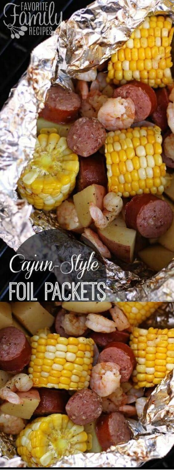 Cajun Shrimp Foil Packets