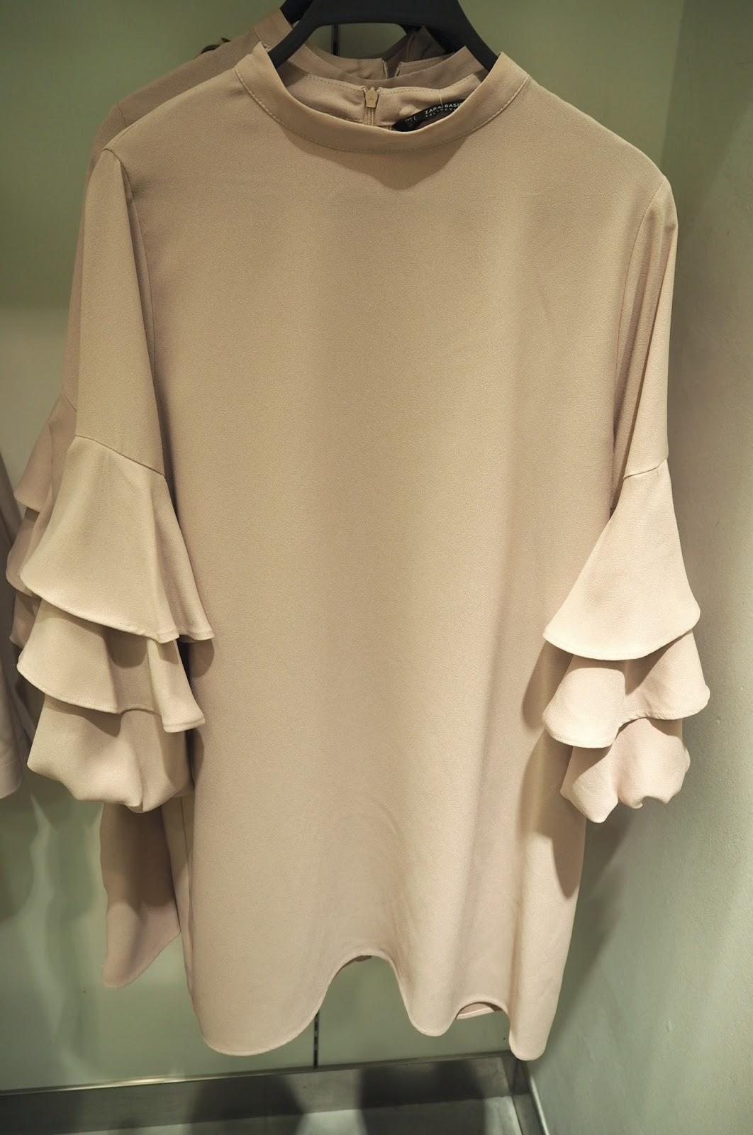 Zara - frilled sleeve dress
