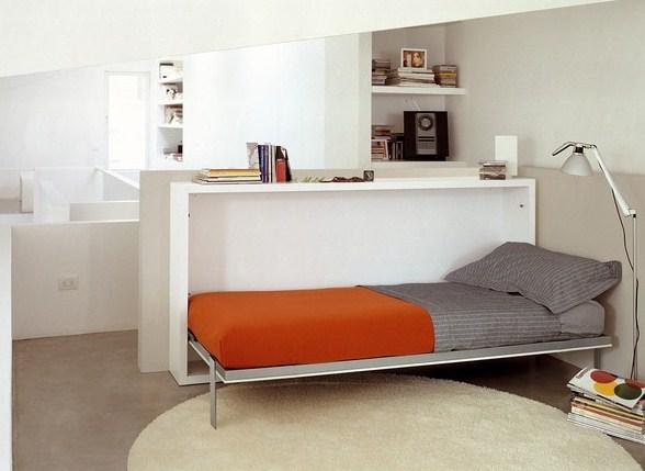 Mẫu giường ngủ kết hợp bàn làm việc độc đáo