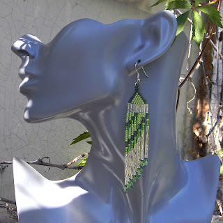 Серьги из бисера seed bead earrings beaded jewelry handmade