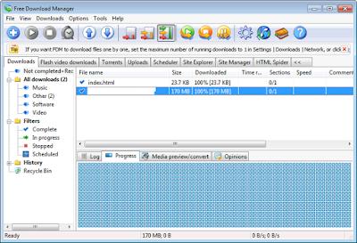 تحميل برنامج فرى داونلود مانجر مجانا Free Download Manager