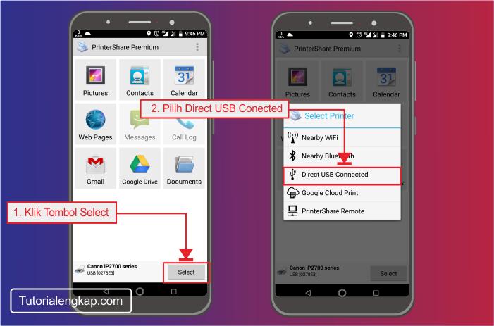 Tutorialengkap 1 Cara Print dari HP, hape, smartphone android ke printer canon, epson via wifi dan kabel otg