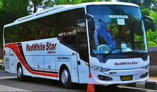 Bus Pariwisata Red White Star
