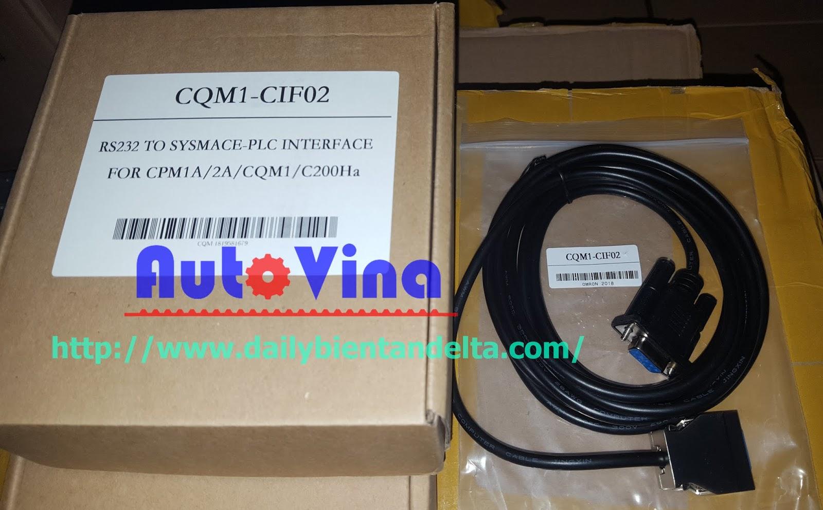 CQM1-CIF02 cable lập trình PLC Omron CPM1A, CPM2A, CQM1, C200Ha