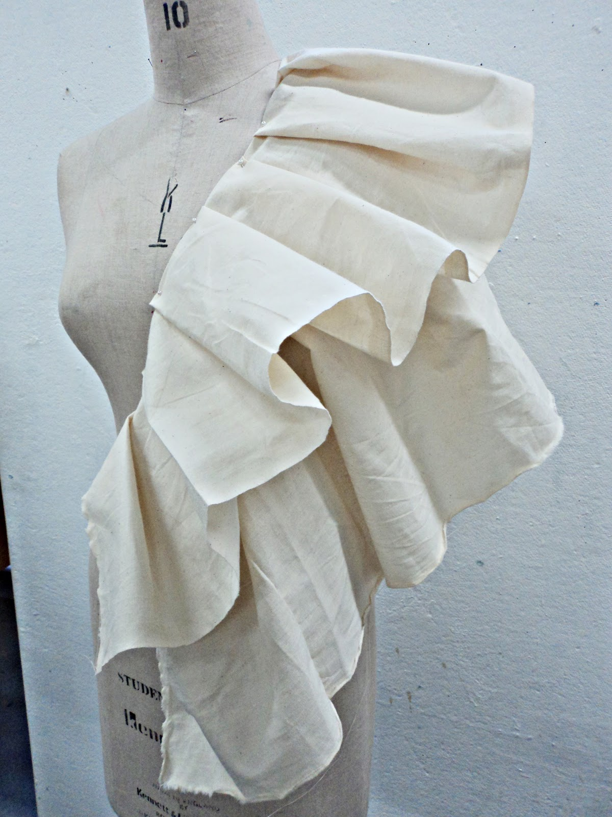 Growth Of Creativity Draping Fabric On The Stand