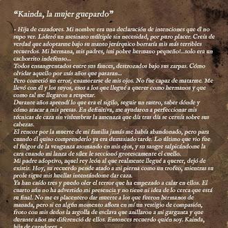 Kainda, sheetah woman - Origen art.