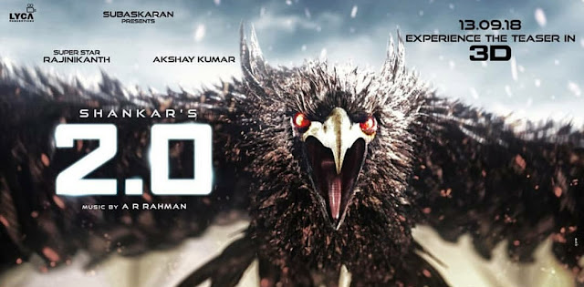 Watch 2.0 Teaser Trailer 2018 - Rajinikant Akshay Amy Jackson