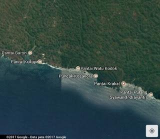 Google map pantai