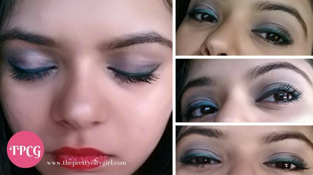 New Year Makeup Look Red And Green The Pretty City Girl Indian