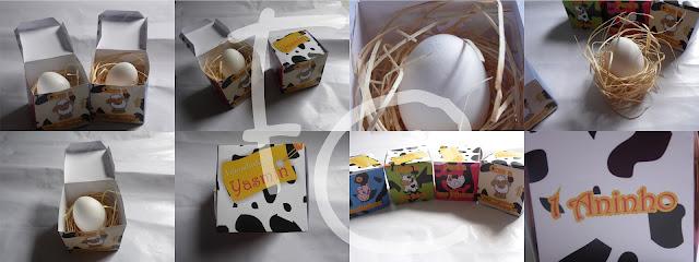Convite Fazendinha - Caixa com Ovo