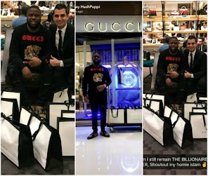 Instagram Celeb, Hushpuppi goes on a shopping spree at Gucci store in Dubai