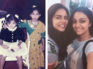 Keerthy Suresh Wishing a Very Happy Birthday to Kalyani Priyadarshan