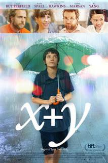 Nathan caminando bajo la lluvia bajo un paraguas y un recuadro superior con los personajes del entorno del joven