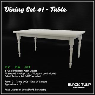 [Black Tulip] Mesh - Dining Set #1 - Table