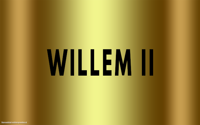 Gouden Willem II wallpaper