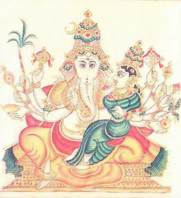 Picture of Maha Ganapati form of 32 forms of Lord Ganesh or Ganapathi