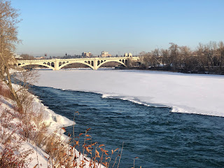 Bow river snow pack, Centre Street Bridge