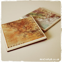 Personalised Map Tile Coaster