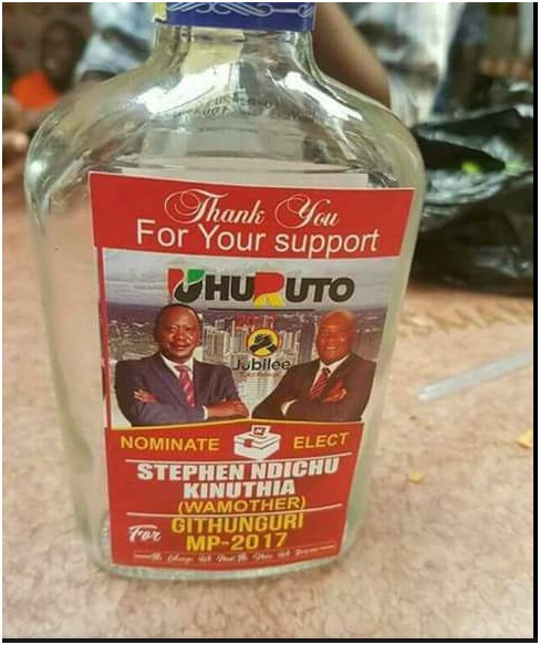 This idiot is killing youths with cheap liquour as he campaigns (PHOTO)