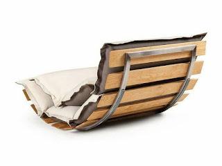 banco de hierro y madera