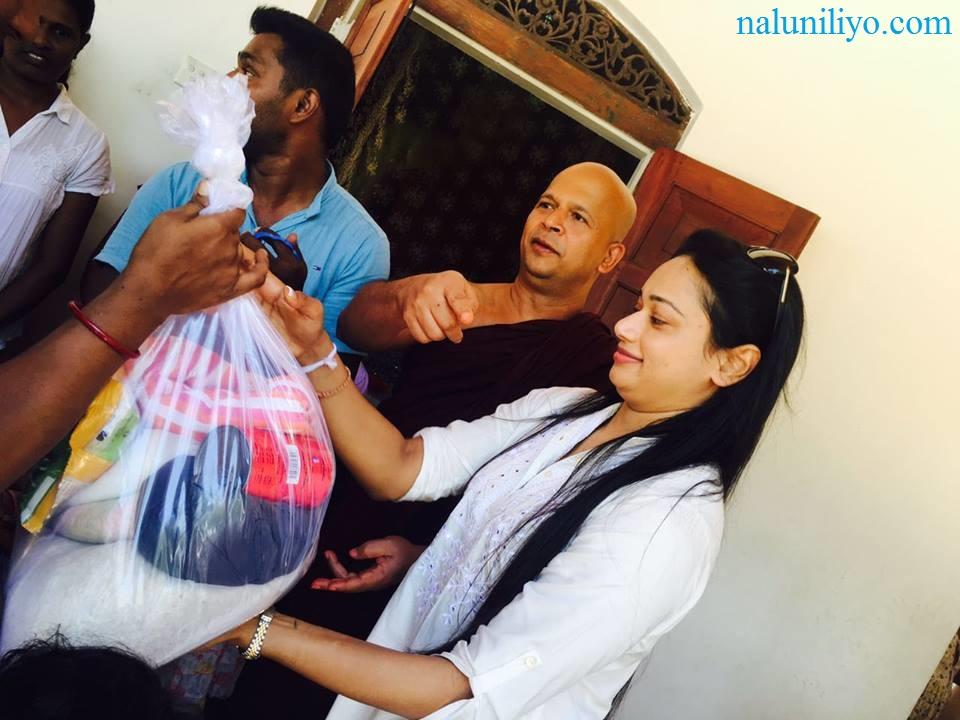 Janaki Wijerathne birthday almsgiving charity Uduwe Dhammaloka Thero