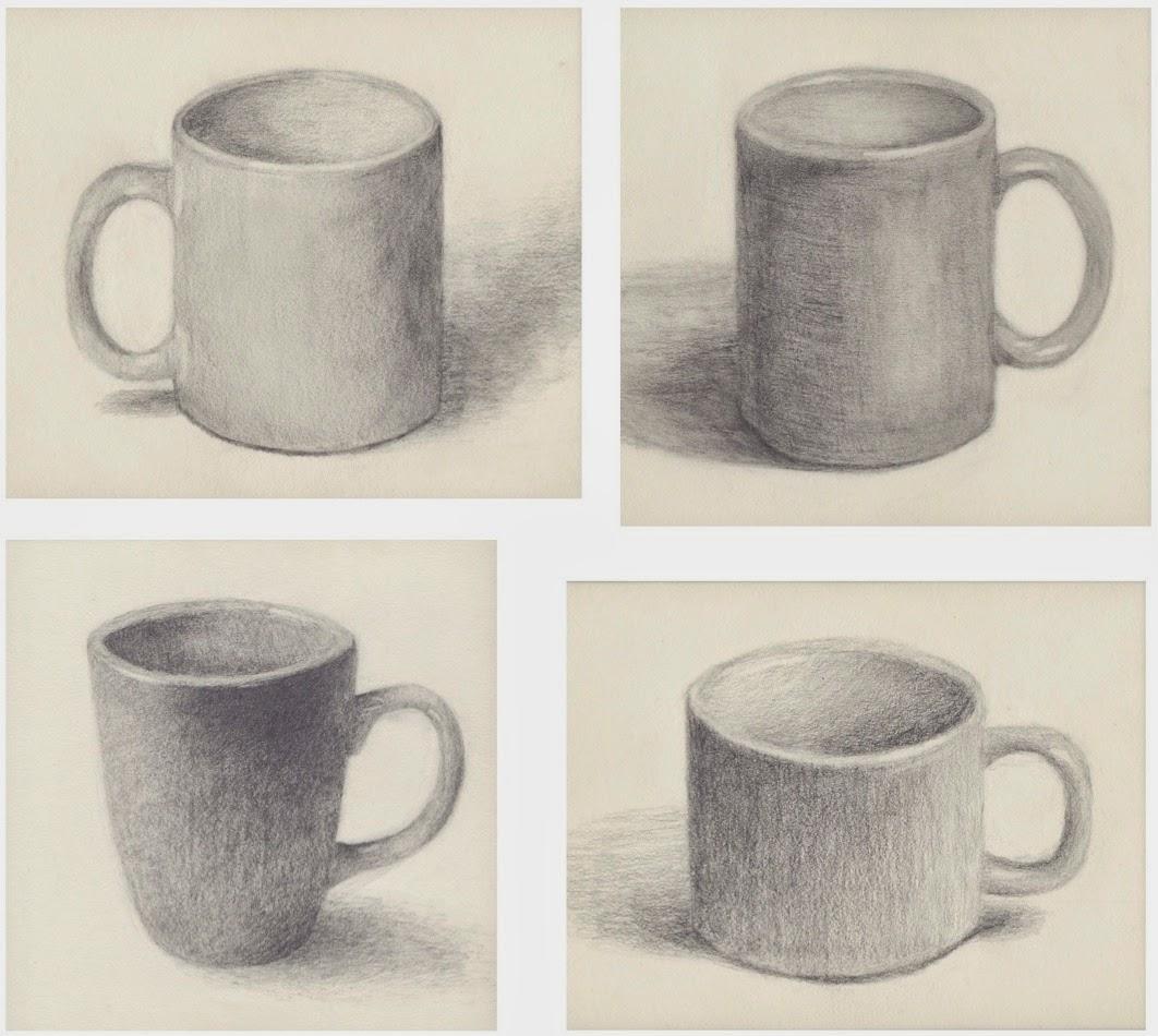 The Rolling Artroom Mug Drawings  2nd Semester  Drawing