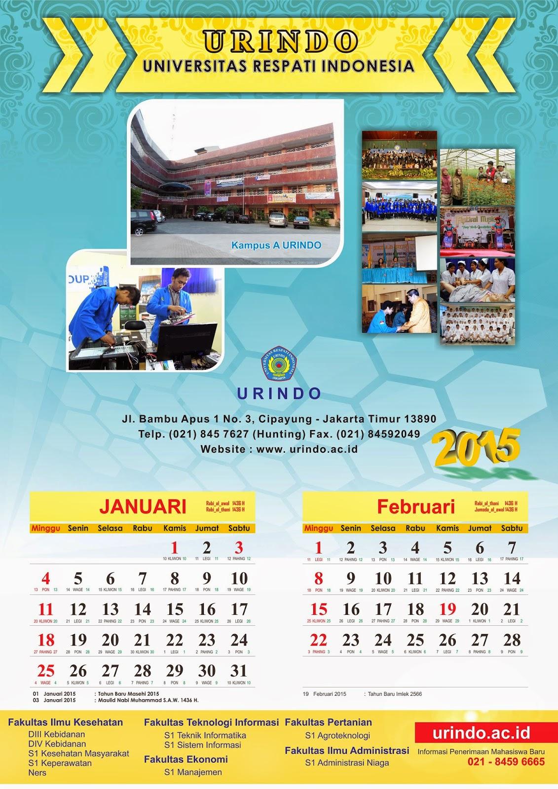 desain kalender duduk dan kalender dinding 2015