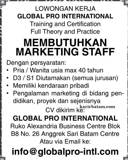 Lowongan Kerja PT. Global International