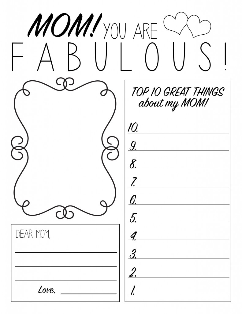 Free printable coloring pages with words - Free Printable Mothers Day Worksheets Coloring Pages Sheets Crafts Online