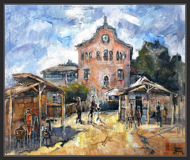 CABRERA DE MAR-PINTURA-FIRA-IBEROMANA-AJUNTAMENT-ARQUEOLOGIA-HISTORIA-QUADRES-ARTISTA-PINTOR-ERNEST DESCALS-
