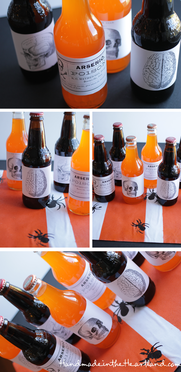 Free Halloween Printable Soda Labels