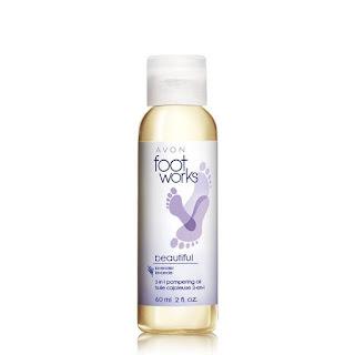 avon footworks lavender oil in catalog 5