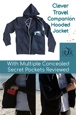 Clever Travel Companion Hoodie Jacket with Multiple Concealed Secret Pockets Reviewed