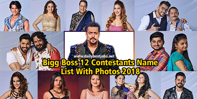 Bigg Boss 12 Contestants Name List With Photos 2018 BB12 Final List