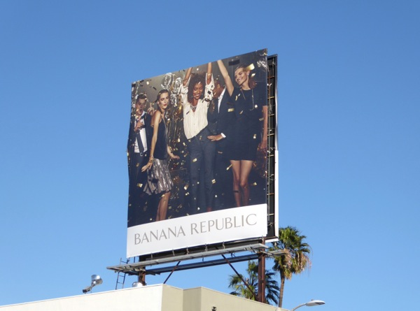 Banana Republic Holidays party 2016 billboard