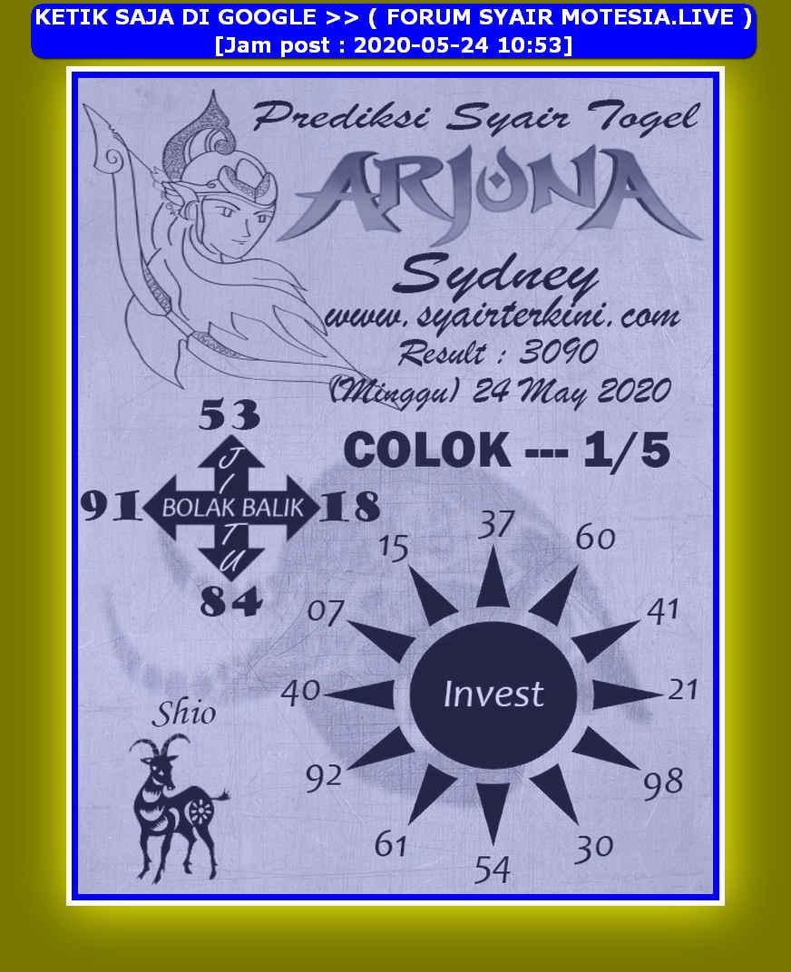Kode syair Sydney Minggu 24 Mei 2020 205