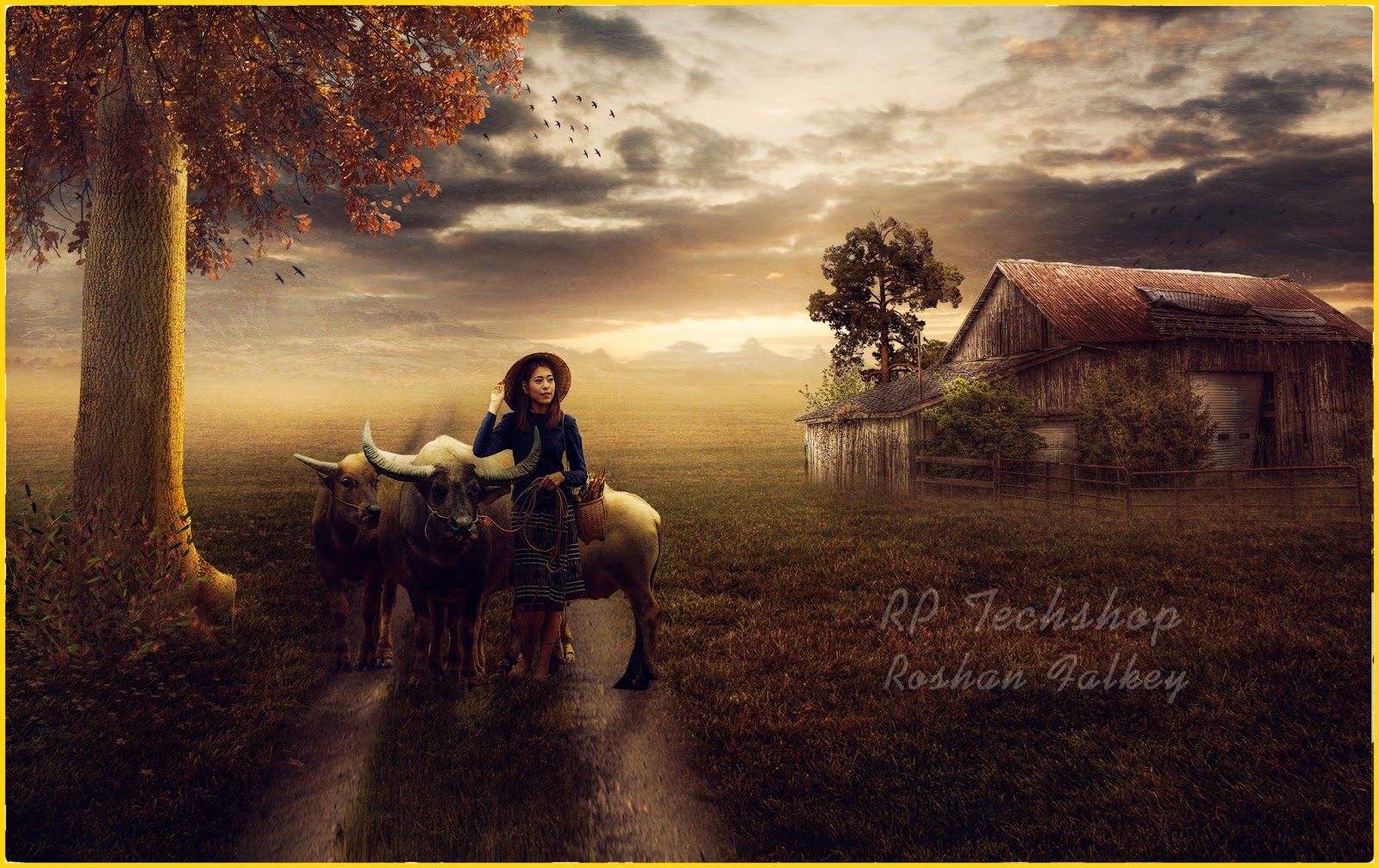 Buffalo girl photo manipulation photo compositing tutorial hello friends in this photoshop tutorial i will show you about photoshop manipulation photo compositing buffalo girl baditri Gallery