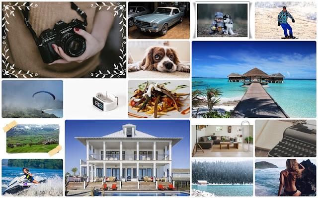 Mapa marzeń, vision board, kolaż ze zdjęć w Photoscape