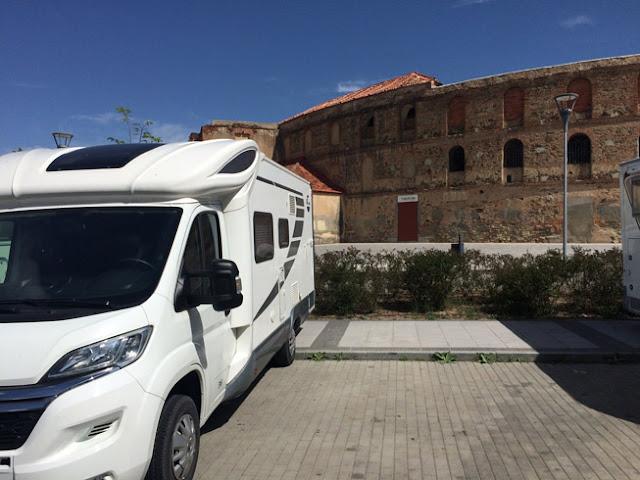 area de autocaravanas de Segovia - caravaneros.com