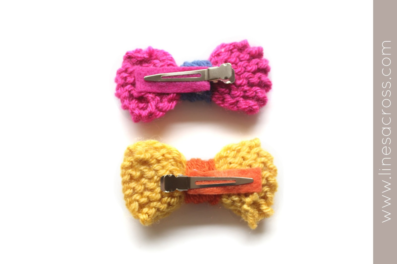 Easy Knitted Bows