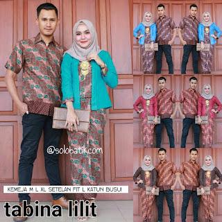 Model Batik Pasangan Batik Couple Modern Tabina Lilit