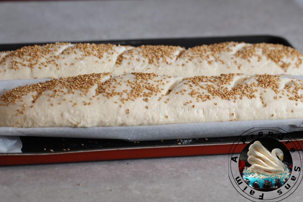 Baguettes aux sésames (pas à pas en photos)