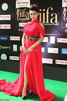 Apoorva in a Stunning Tight Leg Split Sleeveless Red Gown at IIFA Utsavam Awards 04.JPG