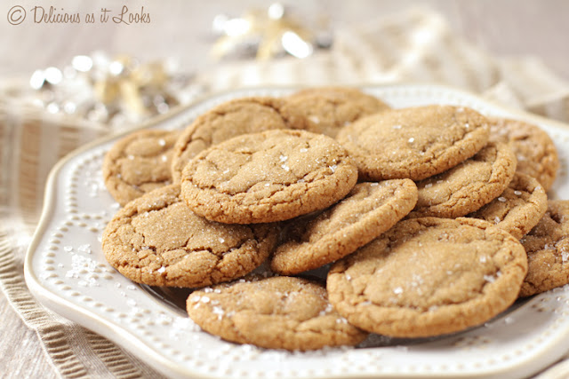 Low-FODMAP & Gluten-Free Soft and Chewy Ginger Cookies (also Gum-Free)  /  Delicious as it Looks