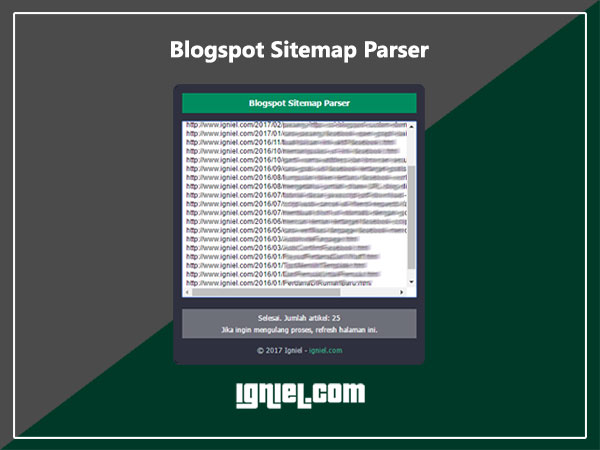 Cara Scrape Sitemap Blogspot - igniel.com