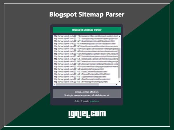 Cara Scrape Sitemap Blogspot