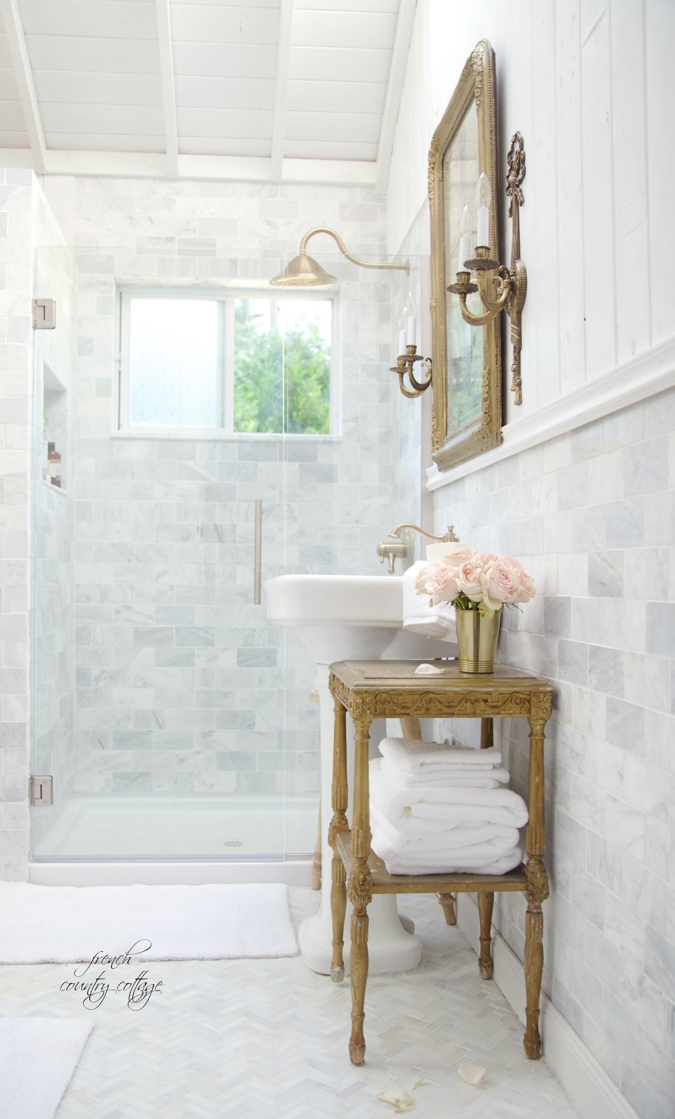 French Cottage Bathroom Renovation- Reveal - FRENCH ...